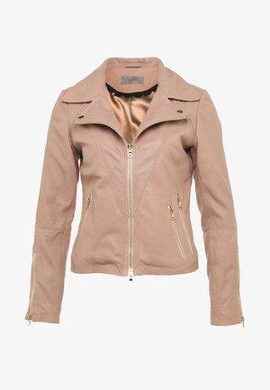 JUNIPER - Kožená bunda - rose beige