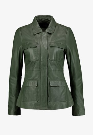 EMILY - Leather jacket - green