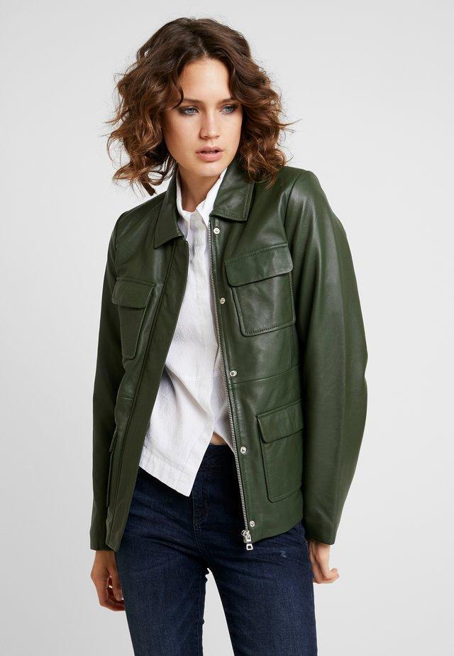 EMILY - Leren jas - green