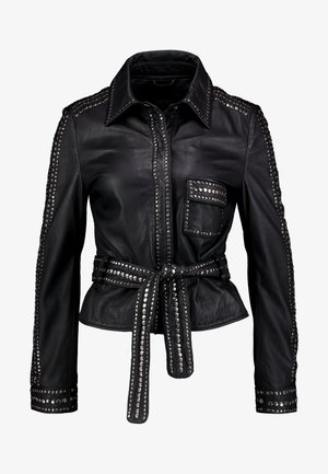 STEPHANIE - Leather jacket - black