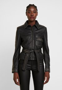 Ibana - STEPHANIE - Leather jacket - black - 0