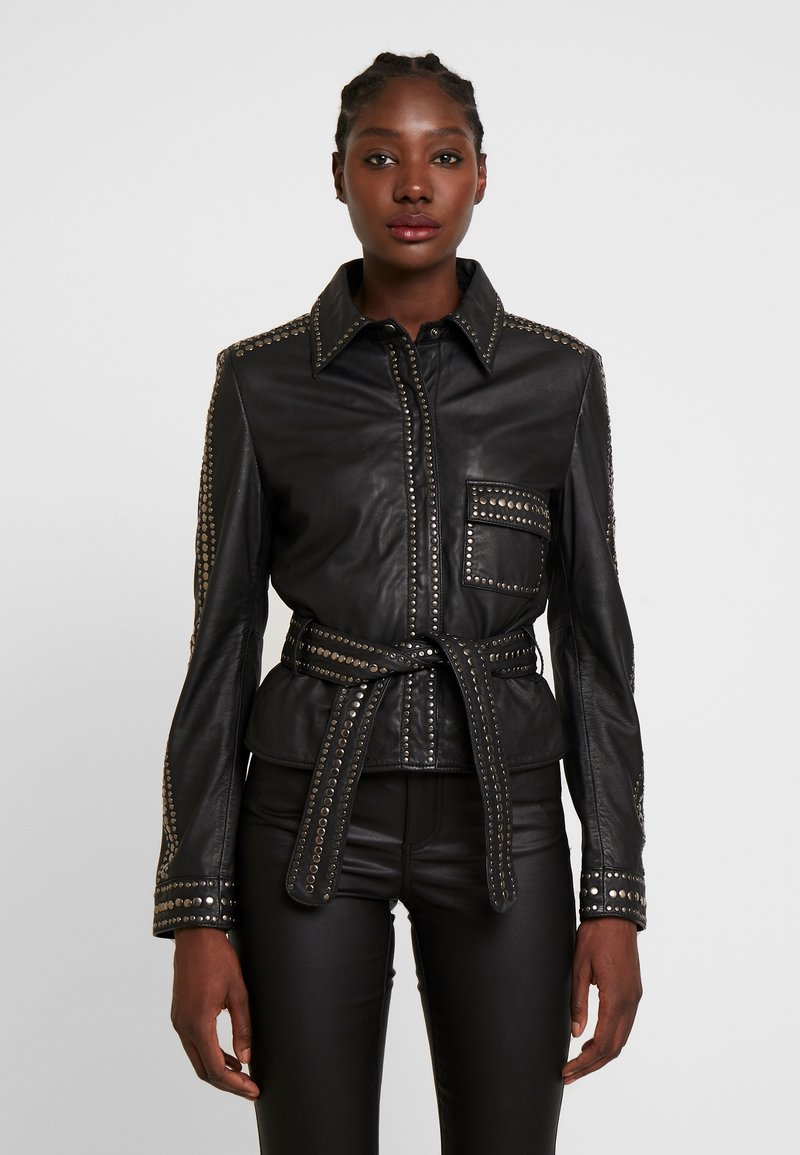 Ibana - STEPHANIE - Leather jacket - black