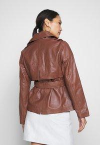 Ibana - LILOU - Veste en cuir - brown - 2