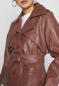 Ibana - LILOU - Veste en cuir - brown - 5