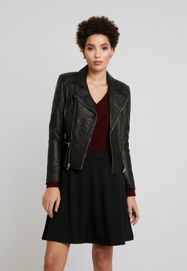 SADIE - Leren jas - black