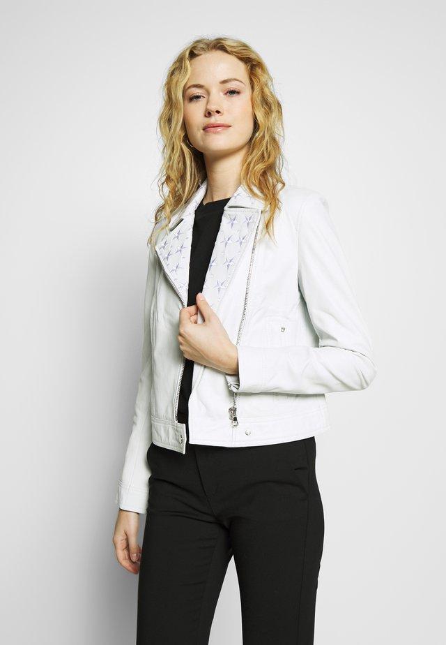 SINNE - Leren jas - white