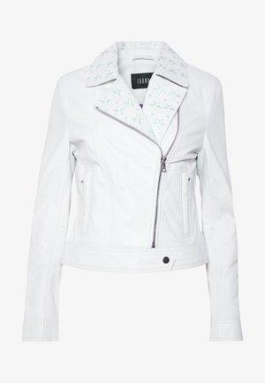 SINNE - Kožená bunda - white