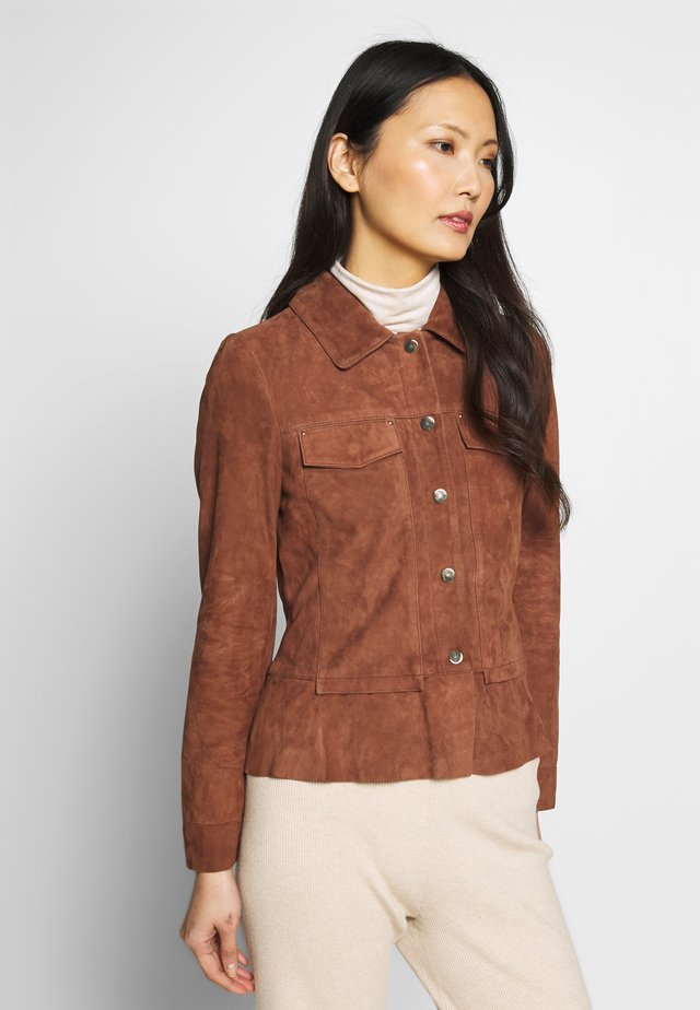 NIGELA - Leren jas - brown