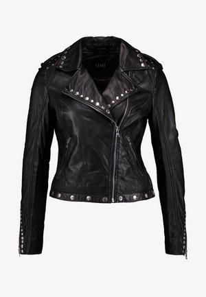SKYLAR - Leather jacket - black