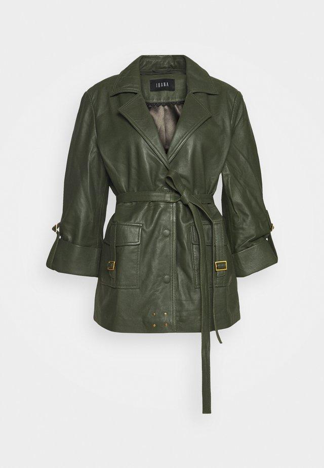 MAE - Leather jacket - green
