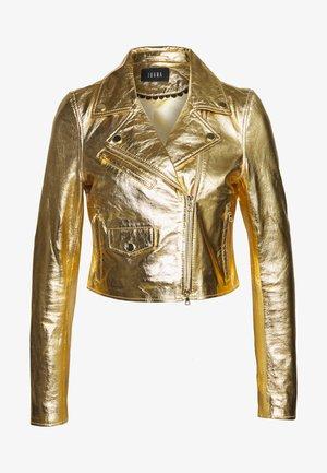 CLAUDETTE - Læderjakker - gold