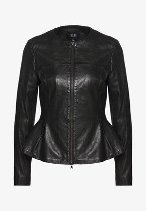 DOREEN - Leather jacket - black