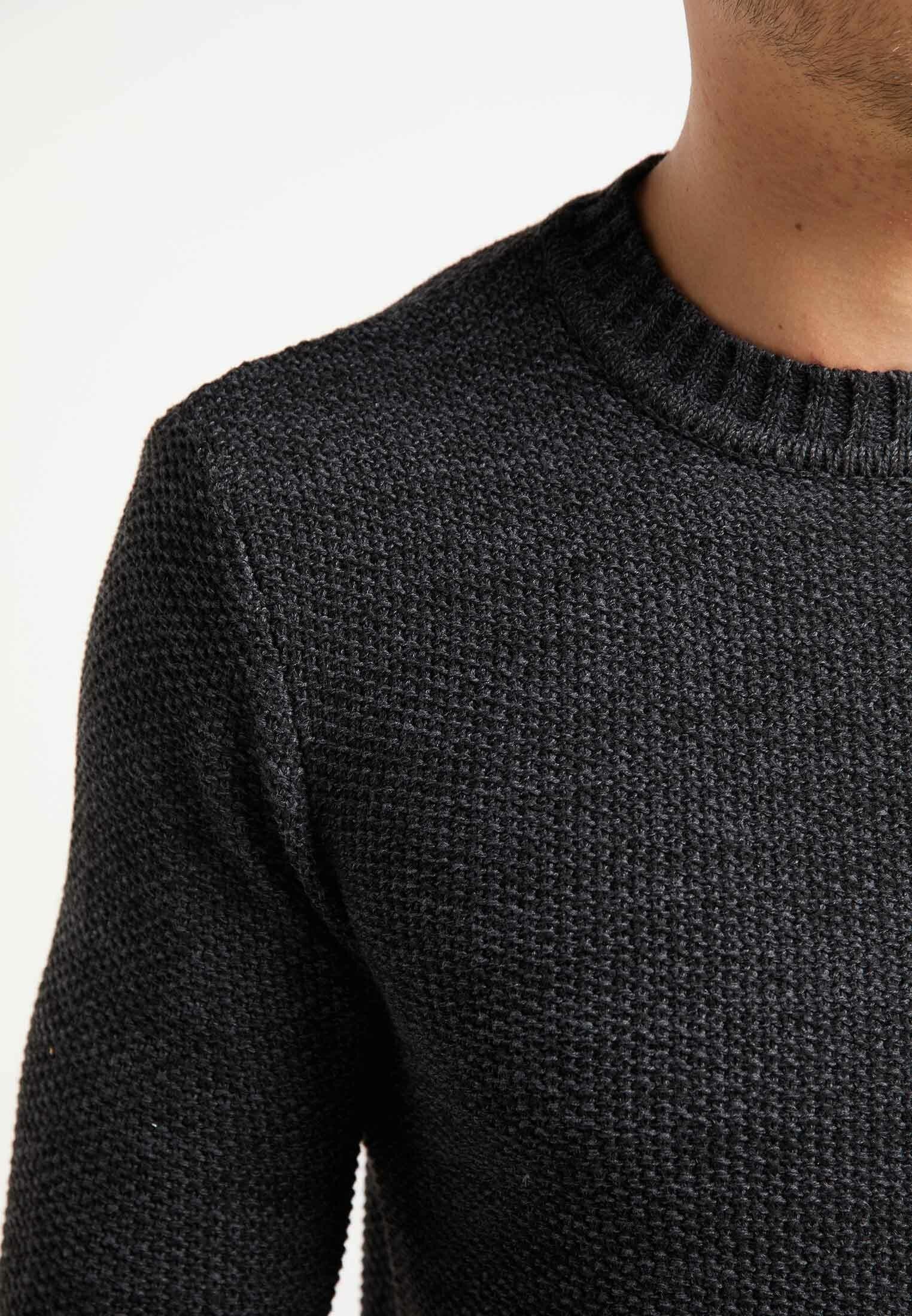 Mo Strikpullover /striktrøjer - Dark Gray Blue