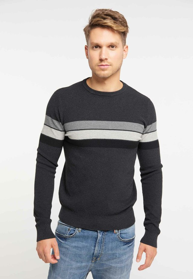 Jumper - dark gray melange