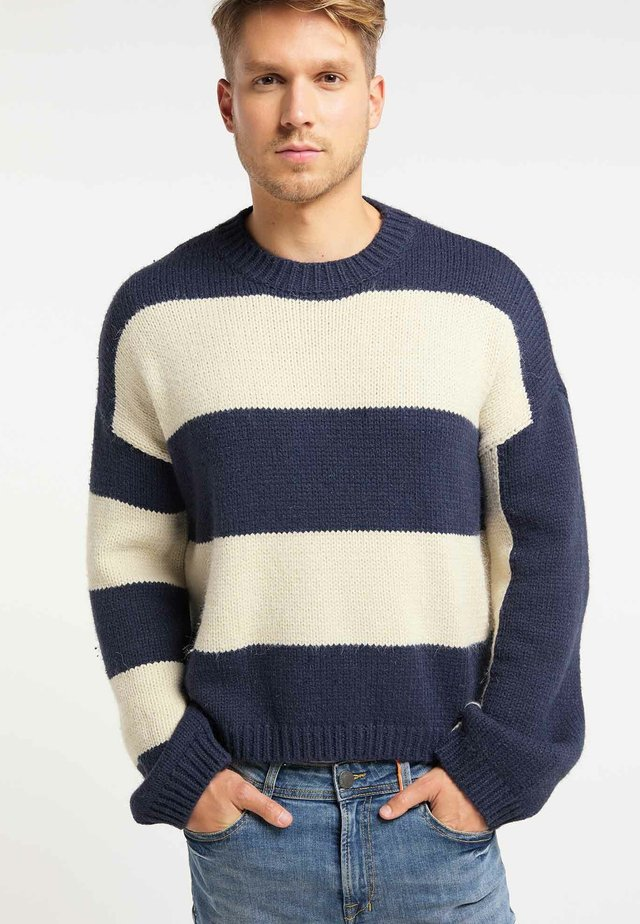 Jumper - navy/white