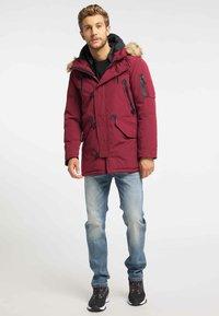 Mo - Winter coat - burgundy - 1