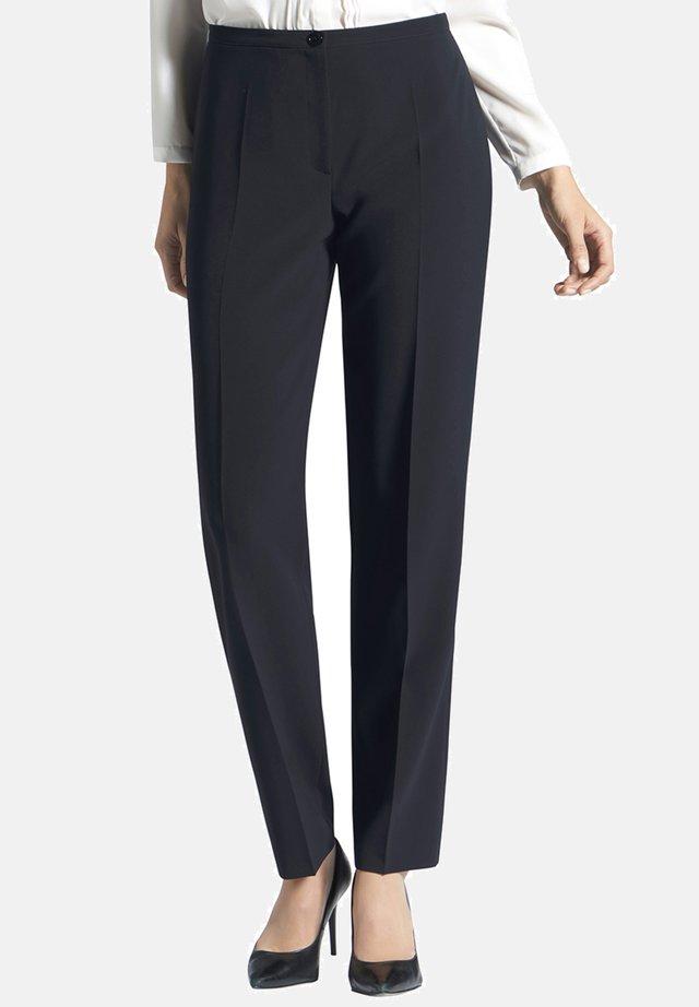 IN UNI-DESIGN MIT BÜGELFALTEN - Trousers - dunkelblau