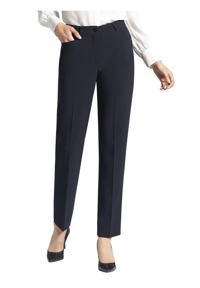 HOSE MIT FRONTTASCHEN UND GüRTELSCHLAUFEN - Trousers - dunkelblau