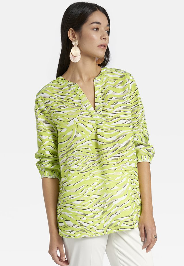 Blouse - light green/light grey