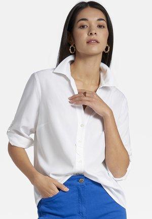 MIT KNOPFLEISTE  - Button-down blouse - weiãŸ