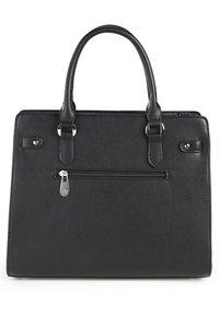 Basler - MIT STRUKTURMUSTER - Handbag - black - 2