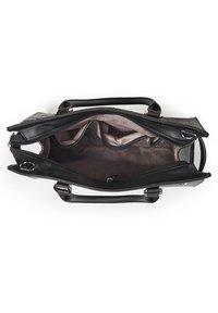 Basler - MIT STRUKTURMUSTER - Handbag - black - 5