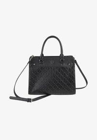 Basler - MIT STRUKTURMUSTER - Handbag - black - 1