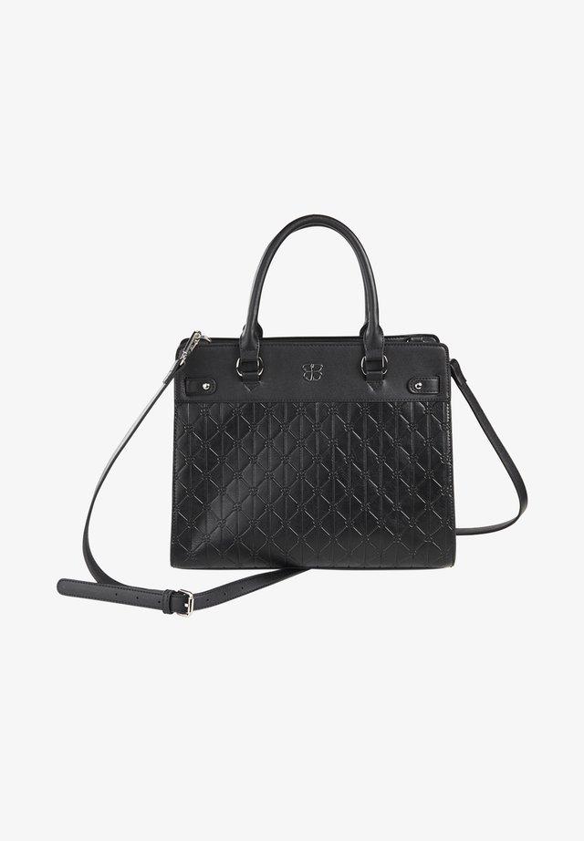 MIT STRUKTURMUSTER - Handbag - black