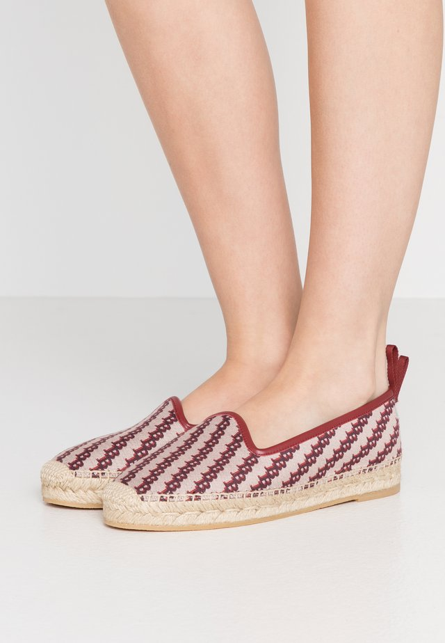 EDDHIE FLAT - Espadrillot - multicolor/red