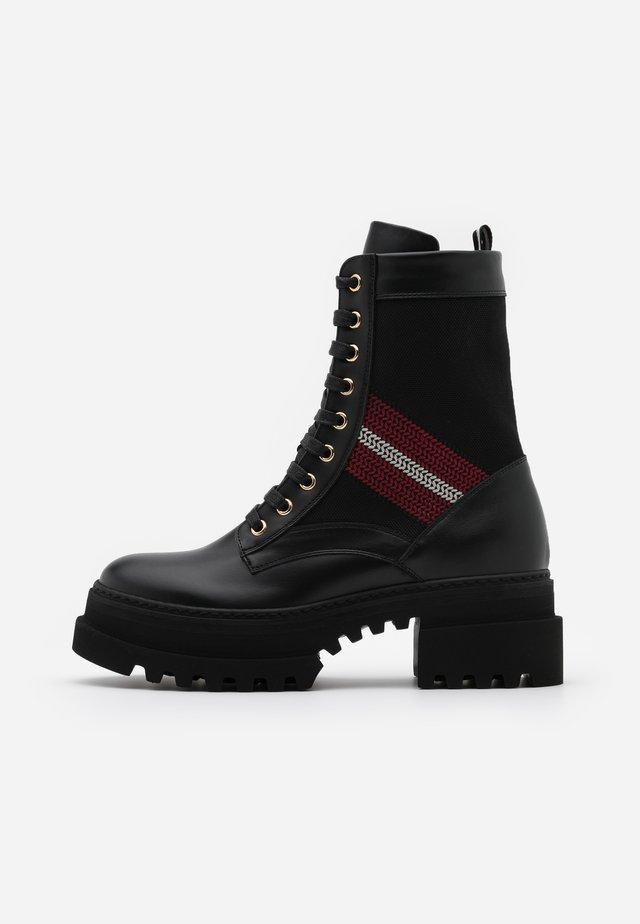 GIOIS - Platform ankle boots - black