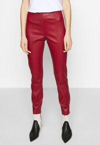Bally - TROUSERS - Leggings - Trousers - bally red - 0