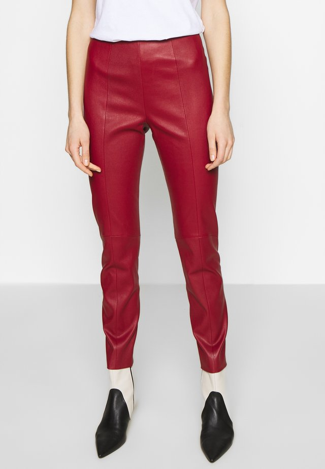 TROUSERS - Leggingsit - bally red