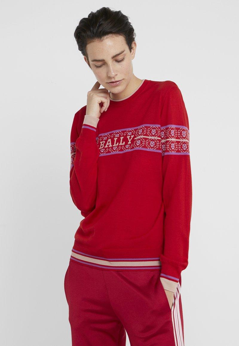 Bally - Strickpullover - cherry