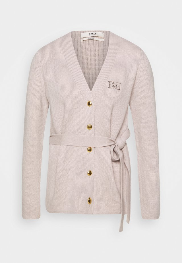 BELTED CARDIGAN - Cardigan - caillou