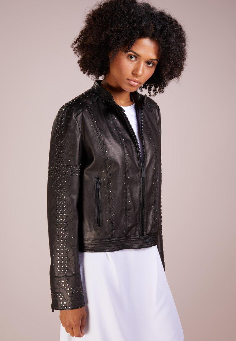 Bally - Veste en cuir - black