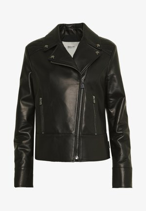 JACKET - Leren jas - black