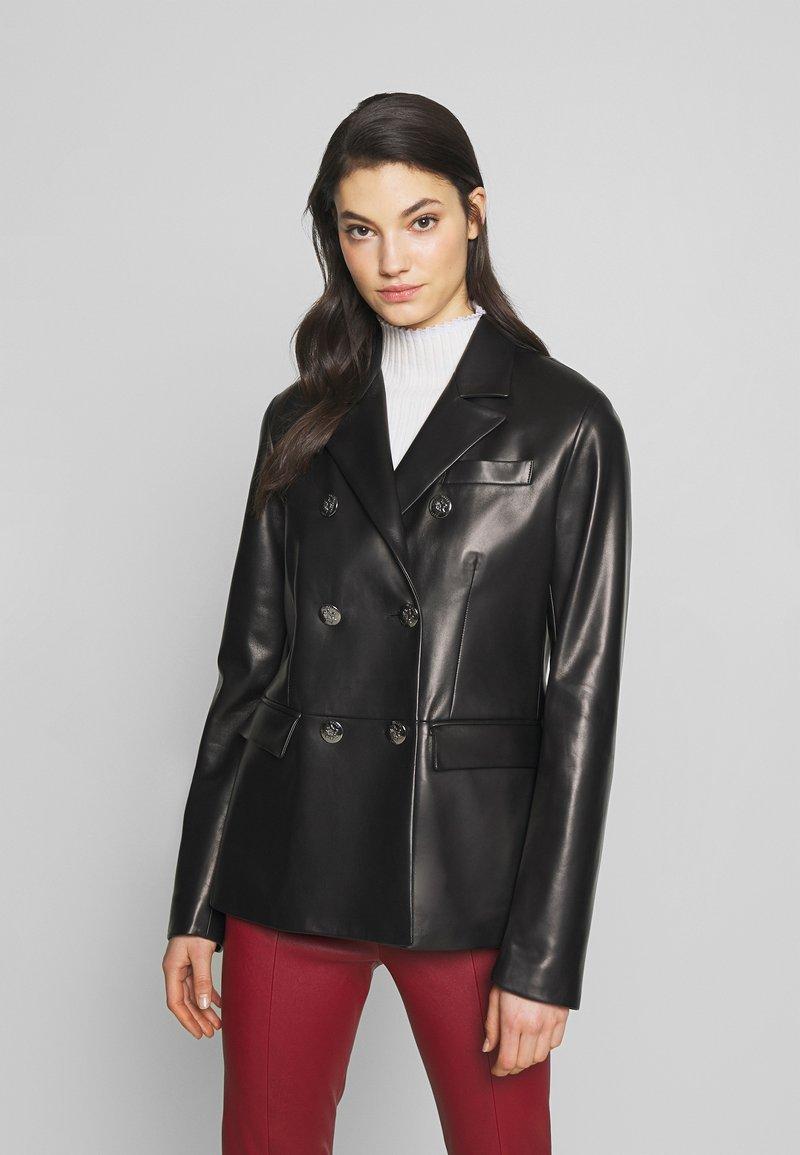Bally - JACKET BLAZER - Leather jacket - black