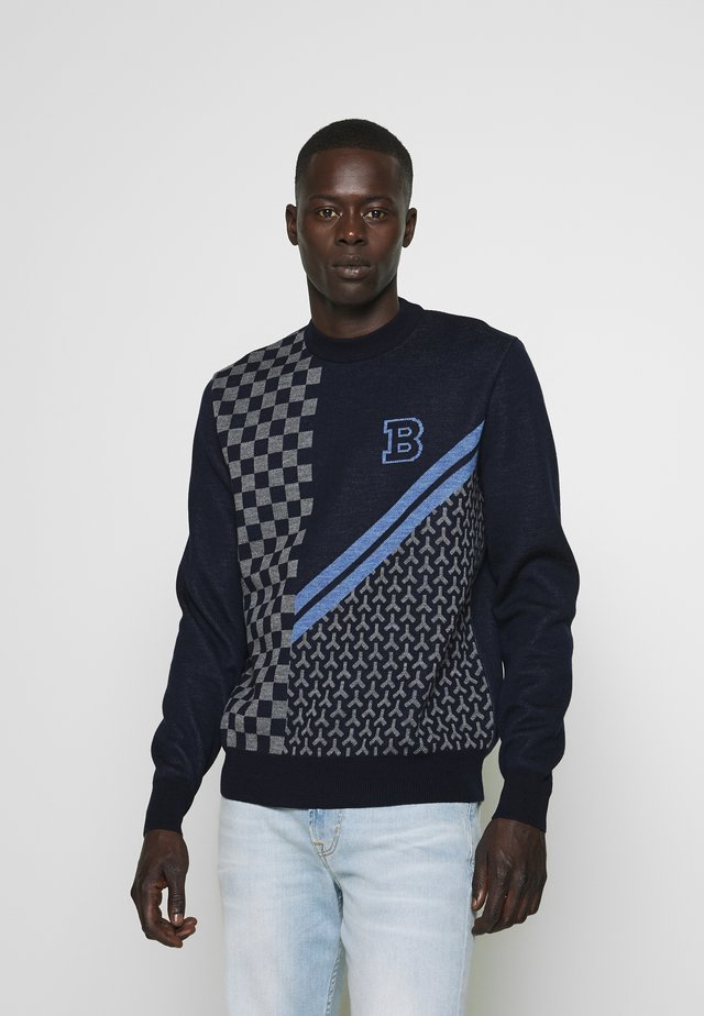 CREW NECK - Strickpullover - navy