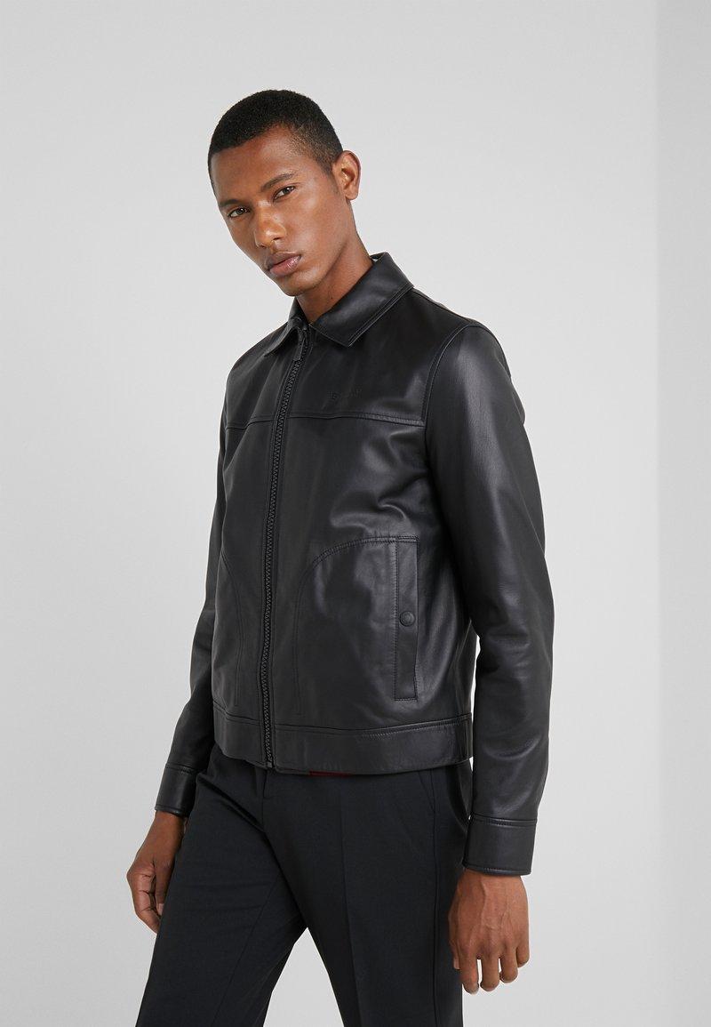 Bally - Leather jacket - black