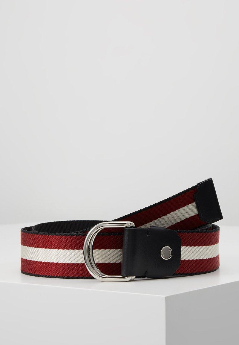 Bally - COPPER - Pásek - black/bone/red/black