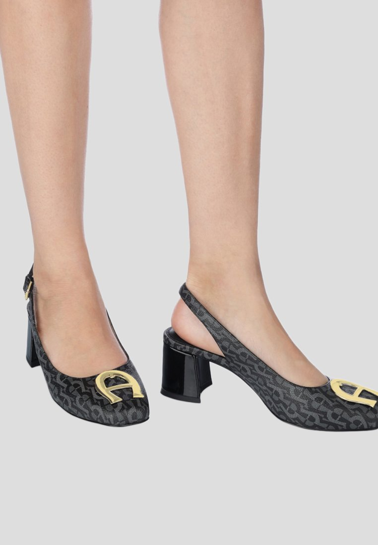 Aigner - GRAZIA - Platform heels - black