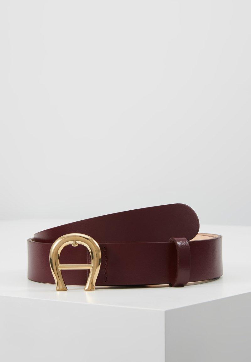 Aigner - Belt - burgundy