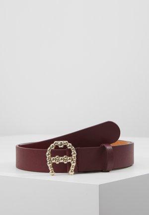 LOGO - Pásek - burgundy