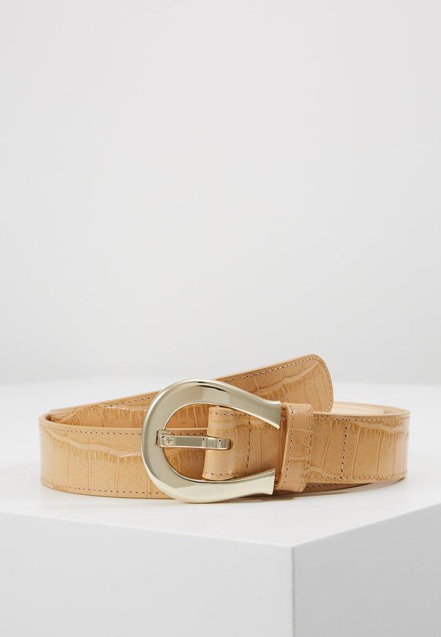 CROCO BELT - Belt - beige