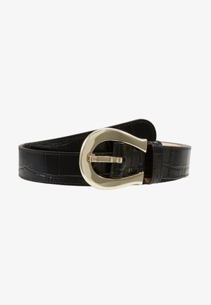 CROCO BELT - Cintura - black