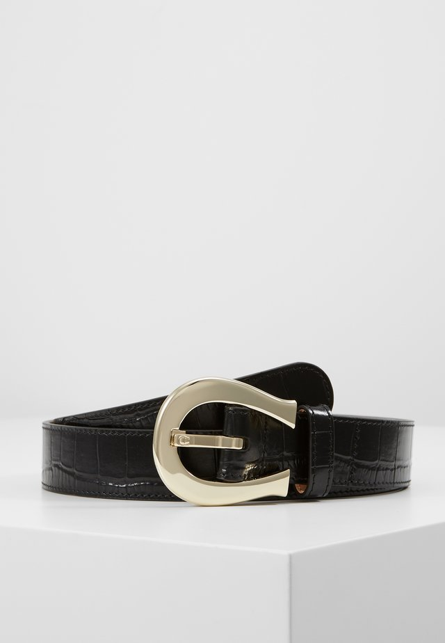 CROCO BELT - Vyö - black