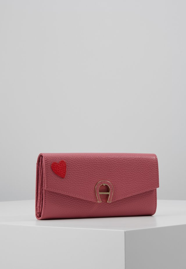 HEART FLAPOVER PURSE - Lompakko - light pink