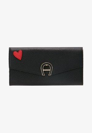 HEART FLAPOVER PURSE - Peněženka - black