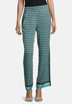 MIT GALONSTREIFEN - Trousers - dark blue/petrol