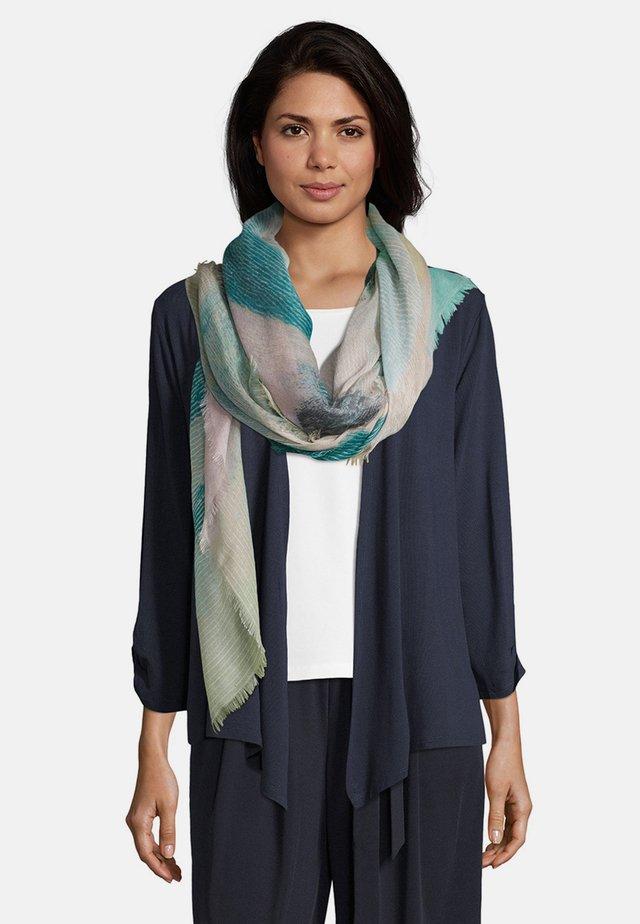 Schal - grün/violett